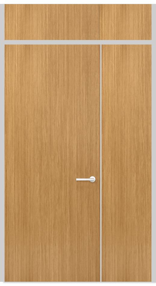 Door Panel with top and side panels semi frameless