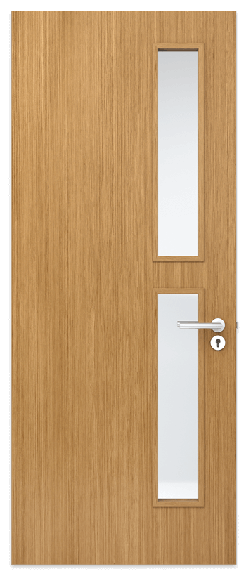 Door Panel with 2 equal vision panels