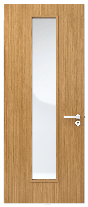 Door Panel with slim center vision panel